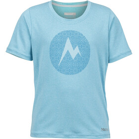 Marmot Girls Post Time Tee SS Light Aqua Heather